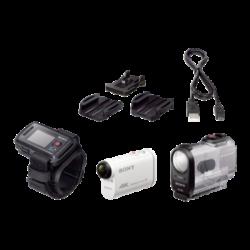 FDR-X1000VR: X1000VR: kamera Action Cam 4K zWi-Fi® iodbiornikiem GPS. Zestaw zpilotem zfunkcją podglądu na żywo