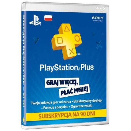 Karta Sony Playstation Plus PSN 90 dni - karty podarunkowe, gry ps4, solpol