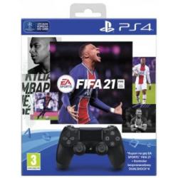 KONTROLER DS4 BLACK V2 + GRA FIFA 21